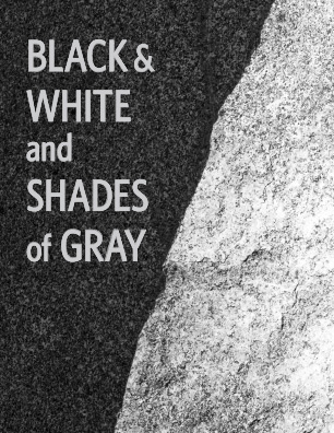 Black and White and Shades of Gray